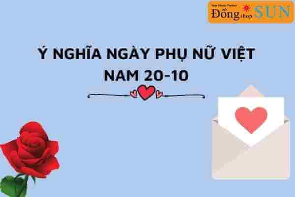 Ý nghĩa ngày phụ nữ Việt Nam