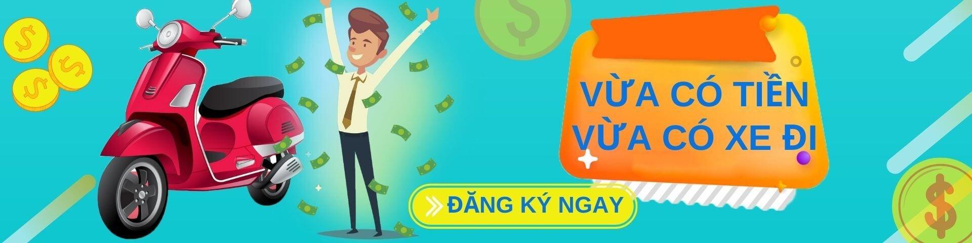 Đồng Shop Sun hỗ trợ vay tiền bằng cà vẹt xe máy