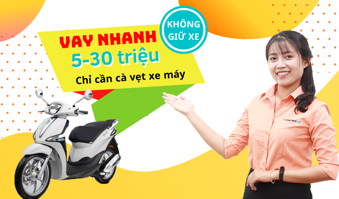 Vay tiền bằng ca vet xe tại Đồng Shop Sun